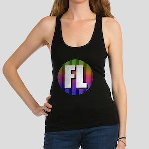 FL Florida Rainbow Racerback Tank Top
