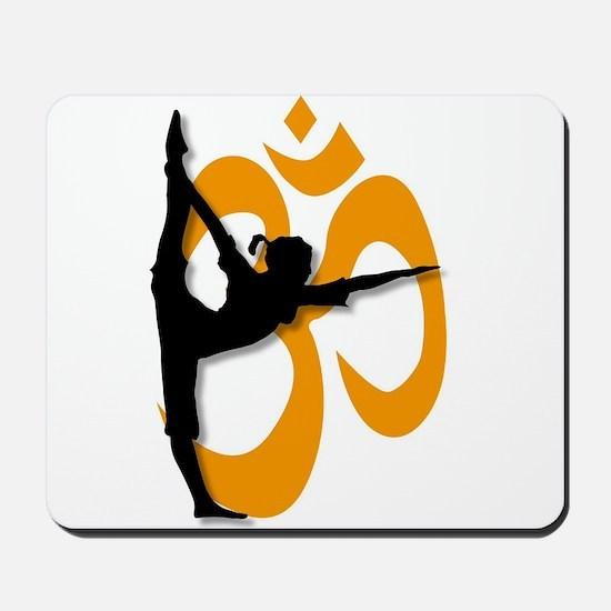 Yoga Pose Poster. Mousepad
