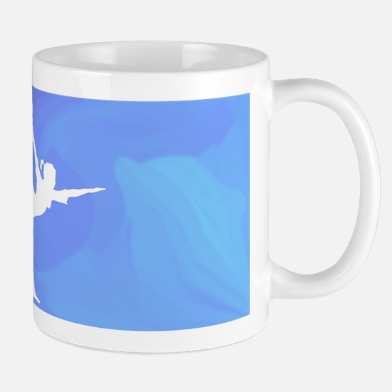 Ocean Yoga Scene With Dolphin Mugs