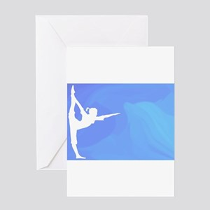 Ocean Yoga Scene With Dolphin Greeting Cards