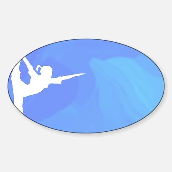 Ocean Yoga Scene With Dolphin Decal