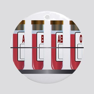 Blood Group Samples Round Ornament