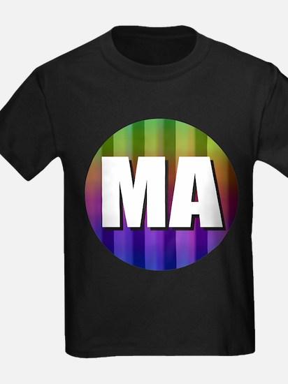 Massectusetts Boston Rainbow T-Shirt