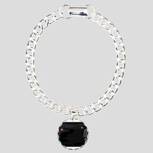 Smokey Club Background Charm Bracelet, One Charm