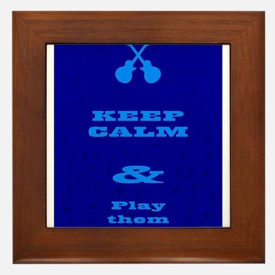 Keep Calm And Play Them Blues Framed Tile