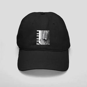 Jazz Microphone Background Black Cap
