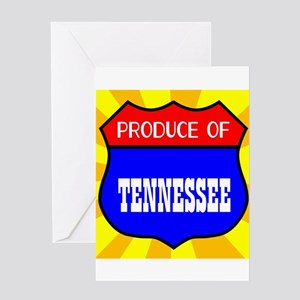 Produce Of Tennessee Greeting Cards