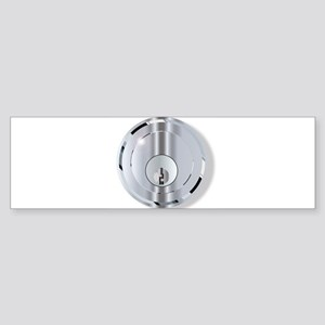 Chrome Front Door Lock Bumper Sticker