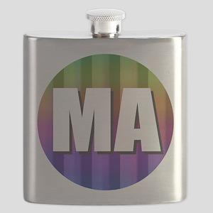 Massachusetts Boston Rainbow Flask