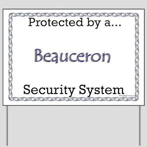 Beauceron Security  Yard Sign