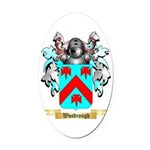 Woodrough Oval Car Magnet