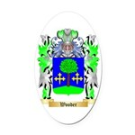 Wooder Oval Car Magnet