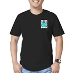 Wood English Men's Fitted T-Shirt (dark)