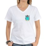 Wood English Women's V-Neck T-Shirt