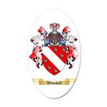 Wombell Oval Car Magnet