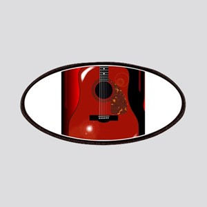 Red Acoustic Guitar Background Patch