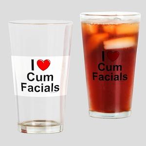 Cum Facials Drinking Glass
