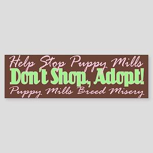 Stop Puppy Mills - Bumper Sticker