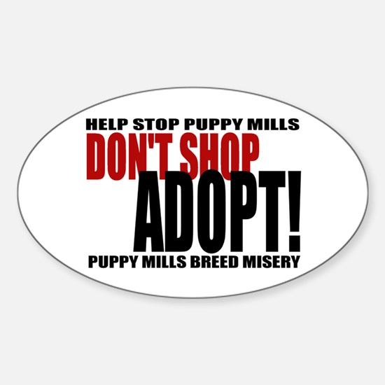 Don't Shop - Red/Black Oval Decal