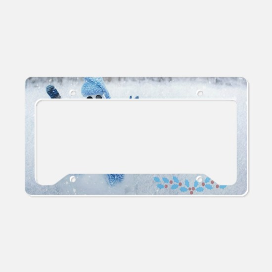 Let it Snow License Plate Holder