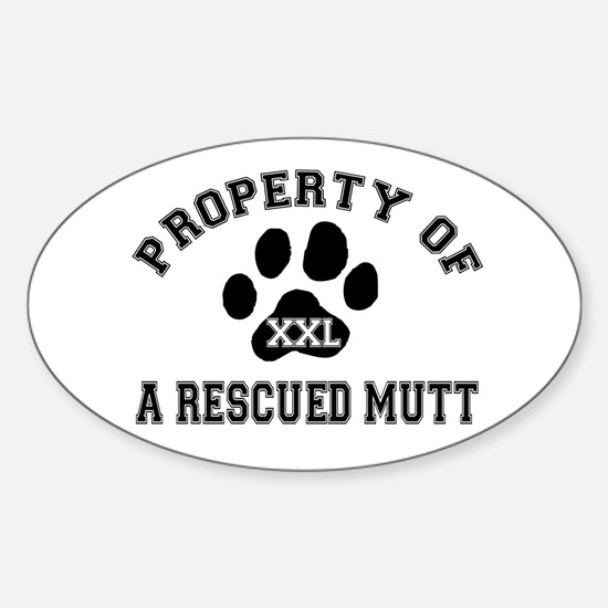 Rescued Mutt - Oval Decal