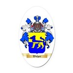 Wolper Oval Car Magnet