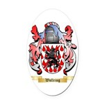 Wollring Oval Car Magnet