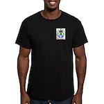 Wolf Men's Fitted T-Shirt (dark)