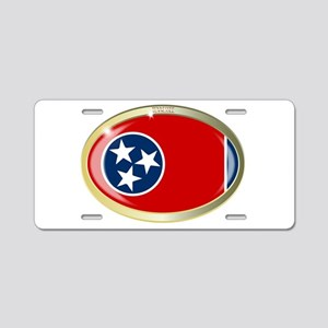 Tennessee State Seal Oval B Aluminum License Plate