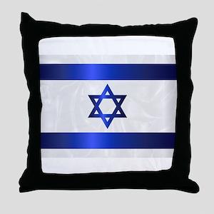 Israel Star Of David Flag Throw Pillow