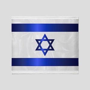 Israel Star Of David Flag Throw Blanket