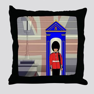 Soldier On Royal Guard Duty Throw Pillow