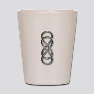 Double Infinity Cloisonne Blue Gold 2 Shot Glass