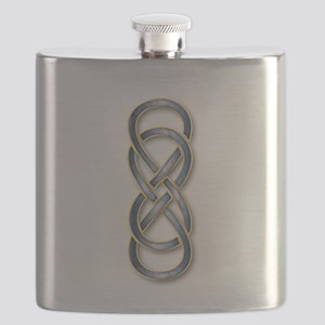 Double Infinity Cloisonne Blue Gold 2 Flask