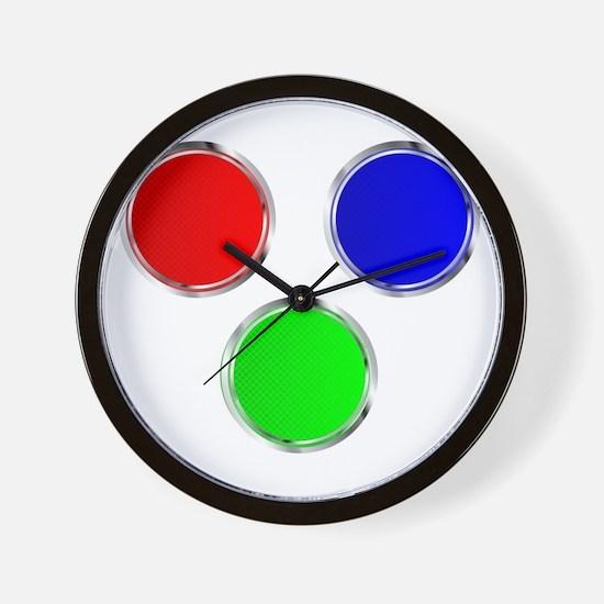 Round RGB Web Icons Wall Clock