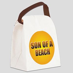 SON OF A BEACH Canvas Lunch Bag