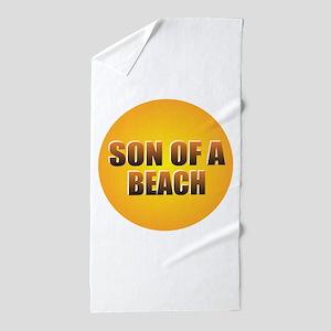 SON OF A BEACH Beach Towel
