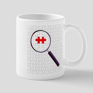 Odd Piece Magnifying Glass Mugs