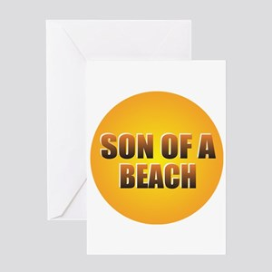 SON OF A BEACH Greeting Cards