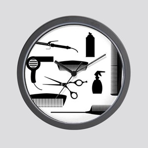 Salon Tools Wall Clock