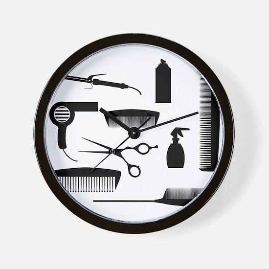 Salon Tools Wall Clock