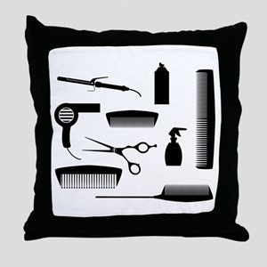 Salon Tools Throw Pillow