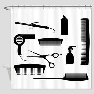 Salon Tools Shower Curtain