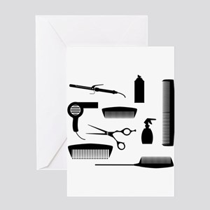 Salon Tools Greeting Cards