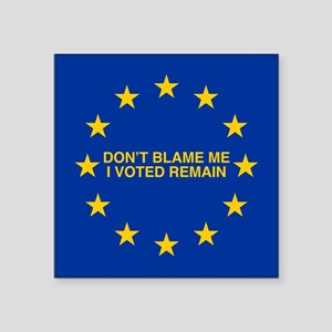 Don't blame me I voted Remain Sticker
