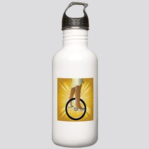 Unicycle On Golden Spl Stainless Water Bottle 1.0L
