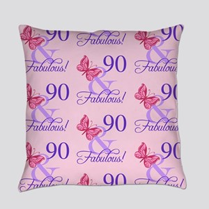 90 & Fabulous Birthday Everyday Pillow