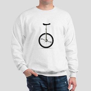 Unicycle On White Sweatshirt