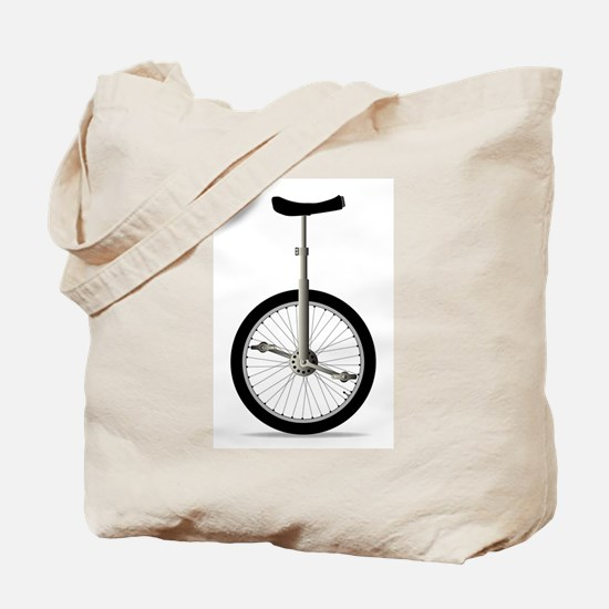 Unicycle On White Tote Bag