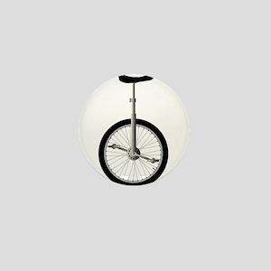 Unicycle On White Mini Button